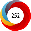 Altmetric donut showing various areas of impact