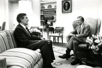 Morris K. Udall and Jimmy Carter