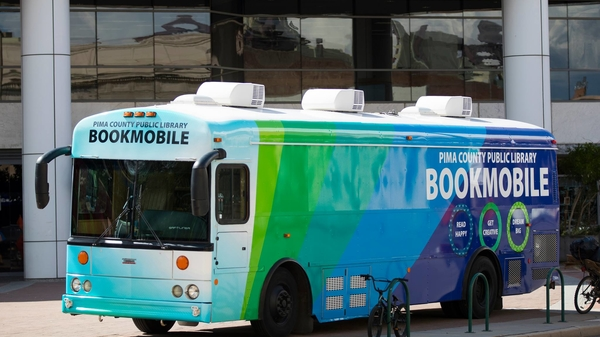 Photo of the Pima County Public Library bookmobile