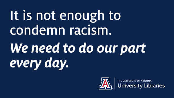 """It is not enough to condemn racism"" graphic"