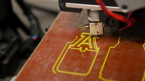 3D printer making a UA bookmark