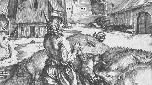 Albrecht Dürer, The Prodigal Son, engraving, ca. 1496