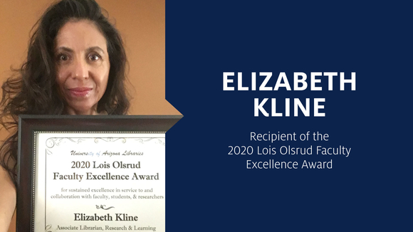Elizabeth Kline with Olsrud Award