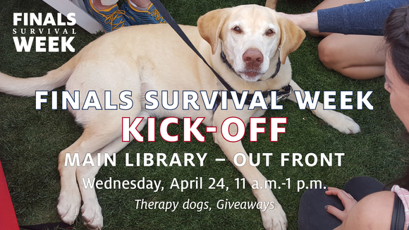 Finals Survival Week Kick Off with dogs