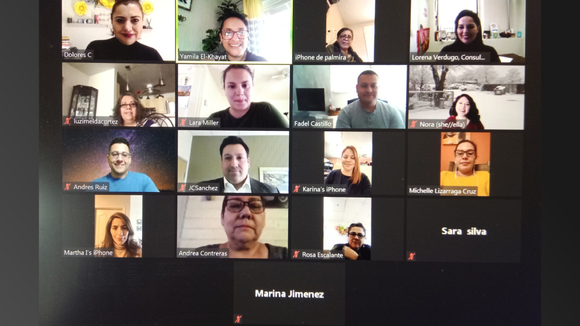 screenshot of zoom meeting participants