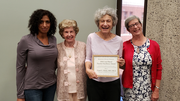 2019 Lois Olsrud Award Recipient with Award Committee Members