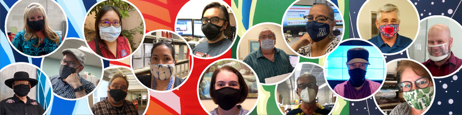 library staff with face masks