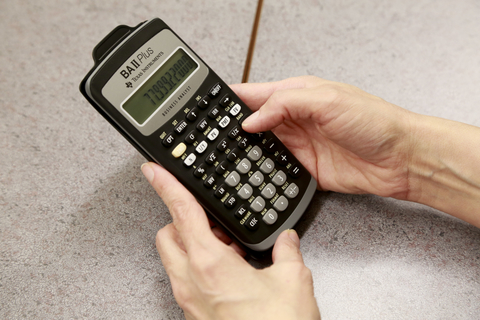 Photo of a financial calculator