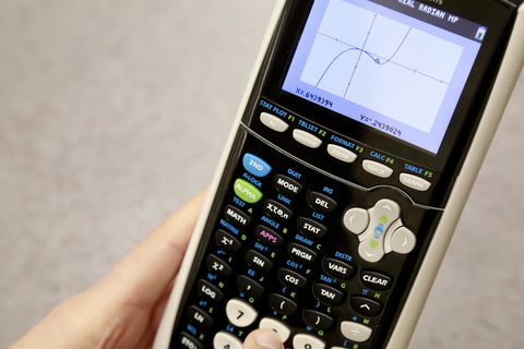 Photo of graphing calculator