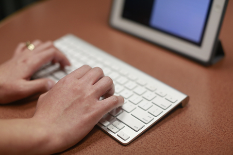 Photo of an  Apple wireless keyboard